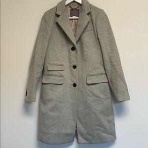 J. Crew wool gray pea coat sz 2